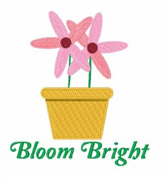 Bloom Bright embroidery design