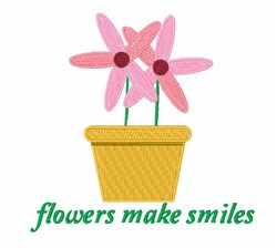 Flowers Make Smiles embroidery design