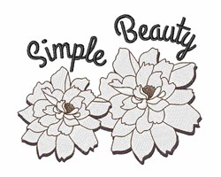 Simple Beauty embroidery design