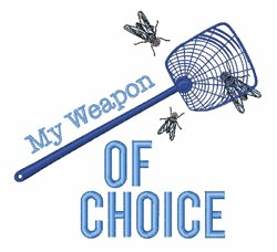 Fly Weapon embroidery design