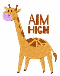 Aim High embroidery design