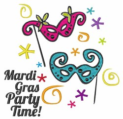 Mardi Gras Party Time embroidery design