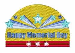 Happy Memorial Day embroidery design