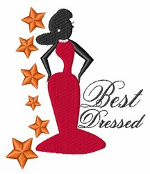 Best Dressed embroidery design