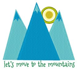 Move To Mountains embroidery design