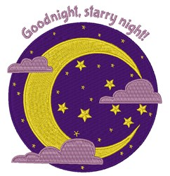 Starry Night embroidery design