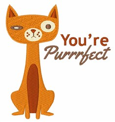Youre Purrfect embroidery design