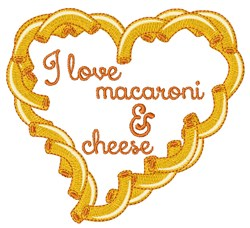 Love Macaroni embroidery design