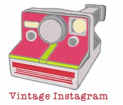 Vintage Instagram embroidery design