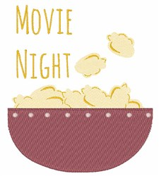 Movie Night embroidery design