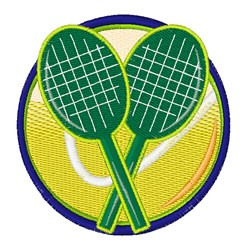 Rackets & Ball embroidery design