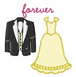 Forever embroidery design