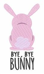 Bye Bye Bunny embroidery design