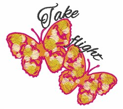 Take Flight embroidery design