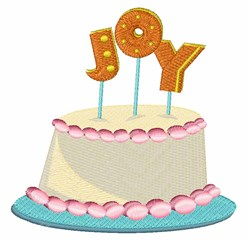 Joy Cake embroidery design