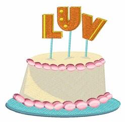 Luv Cake embroidery design