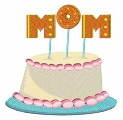 Mom Cake embroidery design