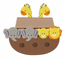 Noahs Ark embroidery design