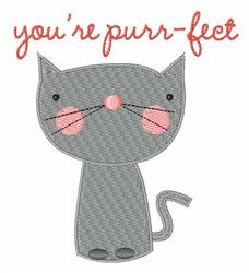 Youre Purr-fect embroidery design