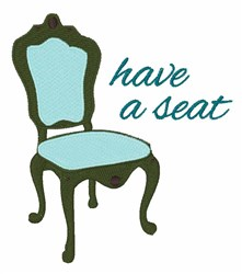 Have A Seat embroidery design