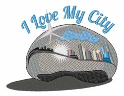 Love My City embroidery design