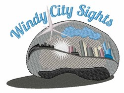Windy City embroidery design