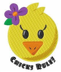 Chicks Rule embroidery design