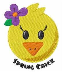 Spring Chick embroidery design