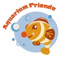 Aquarium Friends embroidery design