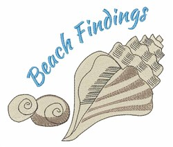Beach Findings embroidery design