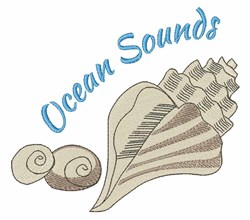 Ocean Sounds embroidery design