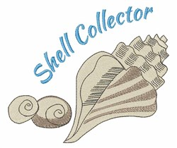 Shell Collector embroidery design