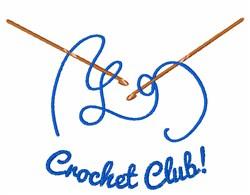 Crochet Club embroidery design