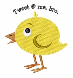 Tweet @ Me embroidery design