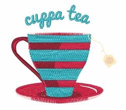 Cuppa Tea embroidery design