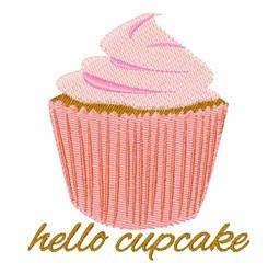 Hello Cupcake embroidery design