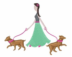 Walking Dogs embroidery design