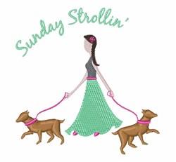 Sunday Strollin embroidery design