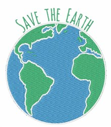 Save The Earth embroidery design