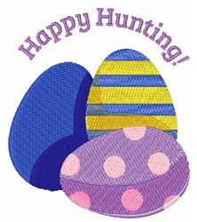 Happy Hunting embroidery design