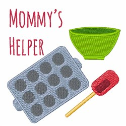 Mommys Helper embroidery design