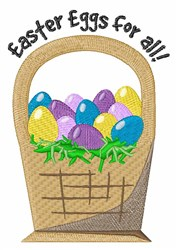 Eggs For All embroidery design