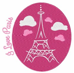 I Love Paris embroidery design