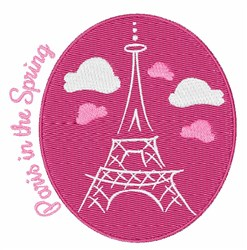 Paris In Spring embroidery design