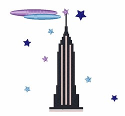 Empire State Building embroidery design