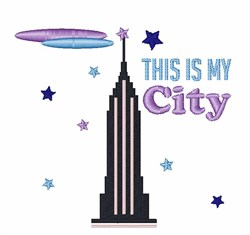 My City embroidery design