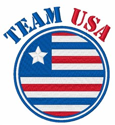 Team USA embroidery design