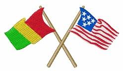 USA & Guinea Flags embroidery design