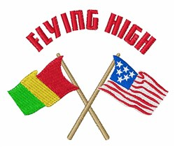 Flying High embroidery design