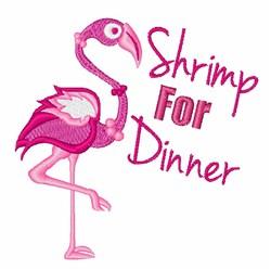 Shrimp For Dinner embroidery design